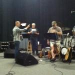 Producer Scott Godsey and the band.