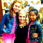 Gabrielle and Gracie with Hannah Webb