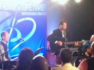 Tim at the 'Song of a Lifetime' video taping