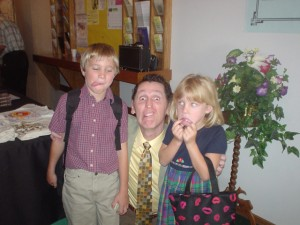 Tim pictured with Ethan and Emily Blagg