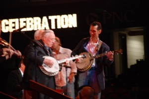 Tim and Earl Scruggs at Tim's Jam Session
