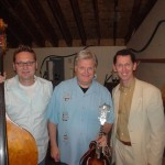 Tim in Canada with Ricky Skaggs and Mark Fain