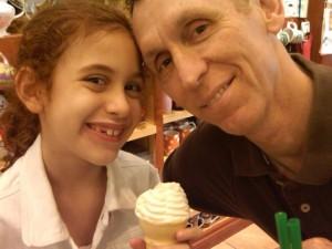 Tim and Gabrielle enjoying some ice cream
