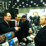 Gerald Wolfe visiting with the Mark Trammell Quartet - #NQC2013