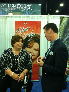 Sue Dodge and I solving world problems - #NQC2013