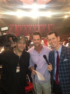 Tim and Adam Crabb with cameraman Rudy Landa #NQC2013