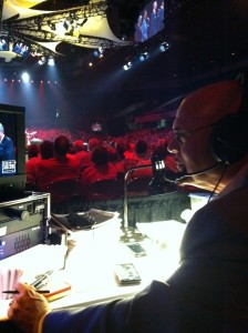 Producer Phil Brower at work - #NQC2013