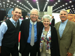"""Tim and his cousins, George and Carolyn Newman, with Dennis """"The Swan"""" Swanberg. #NQC2013"""