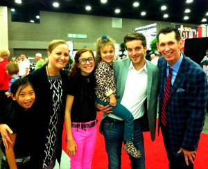 The Lovelace family with Caylon Freeman and his sweet niece, Adelaide. #NQC2013