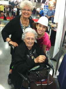 Gabrielle with two of her favorite people, Miss Mildred Spethman and her daughter, Ruth Ann DeForest. #NQC2013