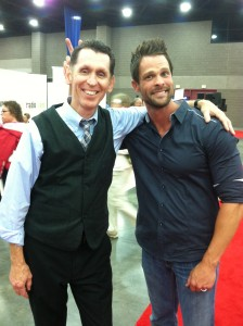 A comedian and a body builder...which is which. Adam Crabb #NQC2013