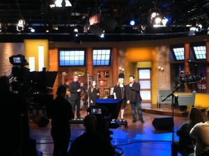 The Mike Bowling Family on set