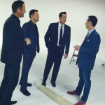 Discussing show details with Ernie Haase, Wayne Haun, and Doug Anderson