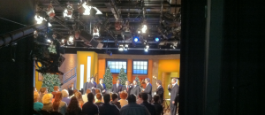 The Booth Brothers, Greater Vision, and Legacy Five taping a Jubilee Christmas episode.